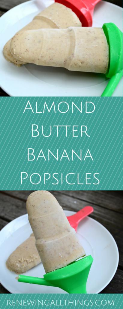 Almond Butter Banana Popsicles