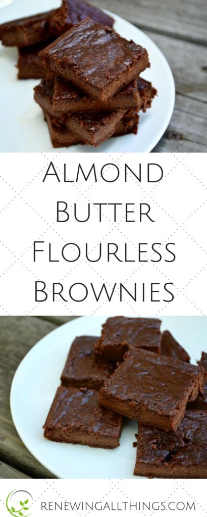 Almond Butter Flourless Brownies