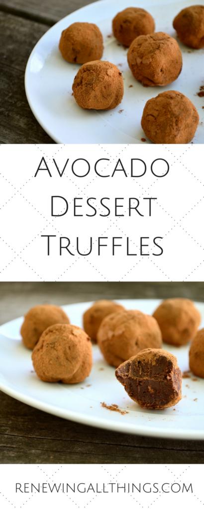 Avocado Dessert Truffles