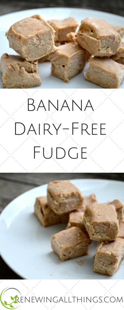 Banana Dairy-Free Fudge