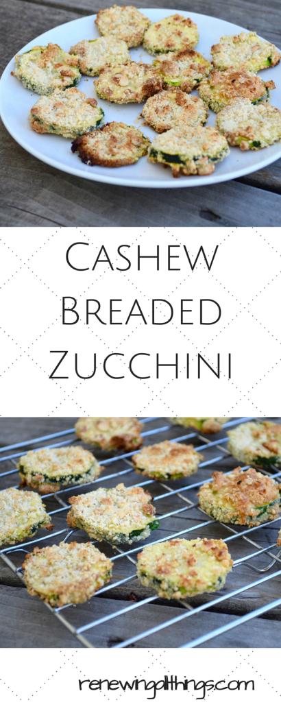 Cashew Breaded Zucchini
