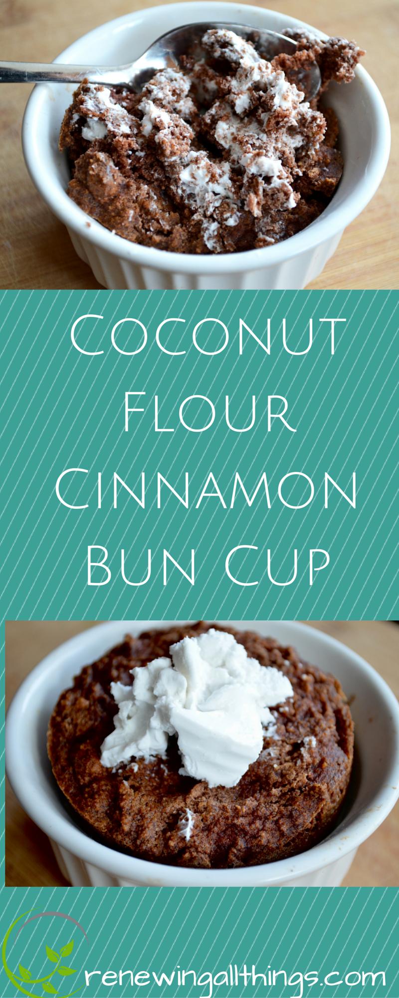 Coconut Flour Cinnamon Bun Cup