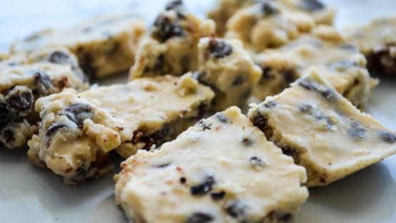 Frozen Cookie Dough Paleo Protein Bars