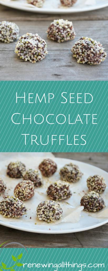 Hemp Seed Chocolate Truffles