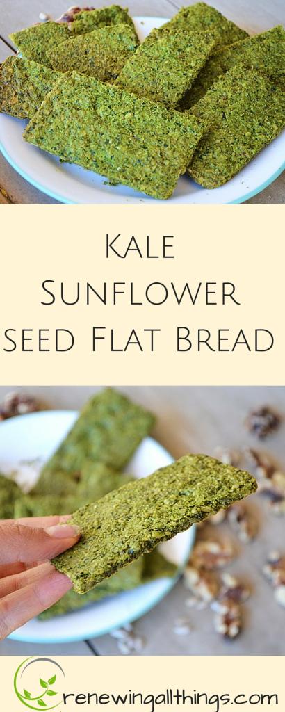 Kale Sunflower seed Flat Bread