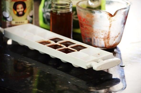 ice tray chocolate