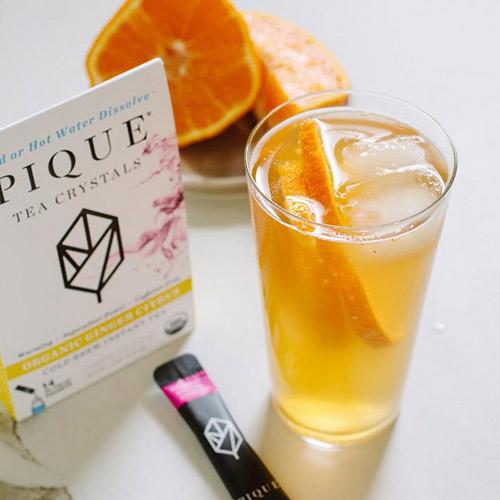 pique tea crystals orange