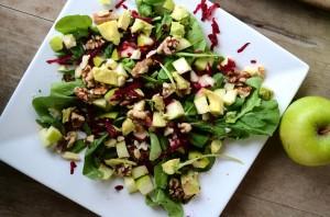 apple beet vegan salad